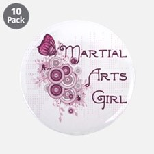 "Martial Arts Girl 3.5"" Button (10 pack)"