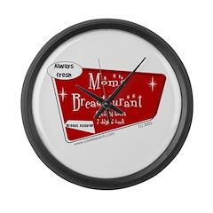 Breastaurant for Mama Large Wall Clock