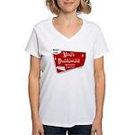 Breastaurant for Mama Women's V-Neck T-Shirt