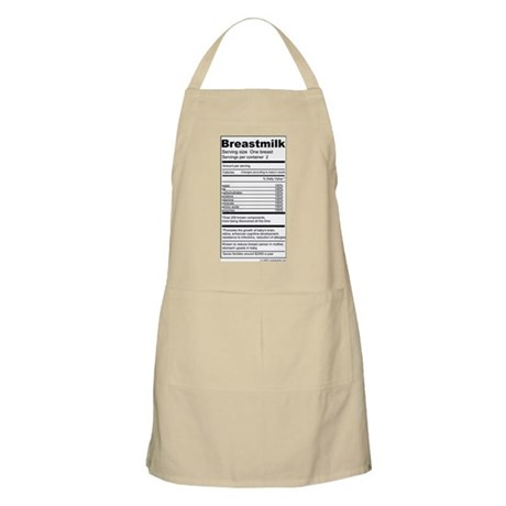 Breastmilk Nutrition Labels Apron