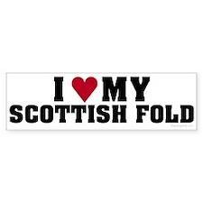 I Love My Scottish Fold Bumper Bumper Sticker