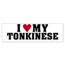 I Love My Tonkinese Bumper Bumper Bumper Sticker