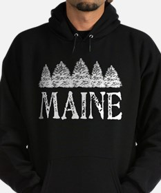 Maine Winter Evergreens Hoodie