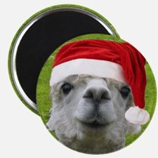 Alpaca Christmas Button Magnet