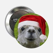 "Alpaca Christmas Button 2.25"" Button"