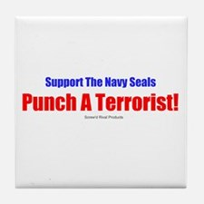 Support The Navy Seals! Tile Coaster