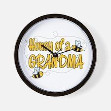 Honey of a Grandma Wall Clock
