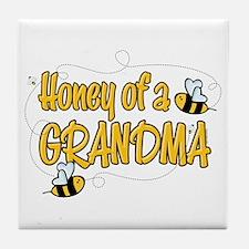 Honey of a Grandma Tile Coaster