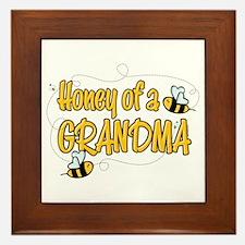 Honey of a Grandma Framed Tile