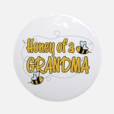 Honey of a Grandma Ornament (Round)