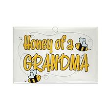 Honey of a Grandma Rectangle Magnet