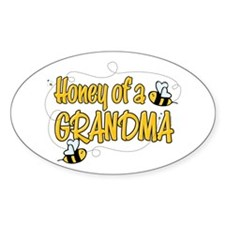 Honey of a Grandma Oval Decal