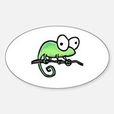 chameleon Oval Bumper Stickers