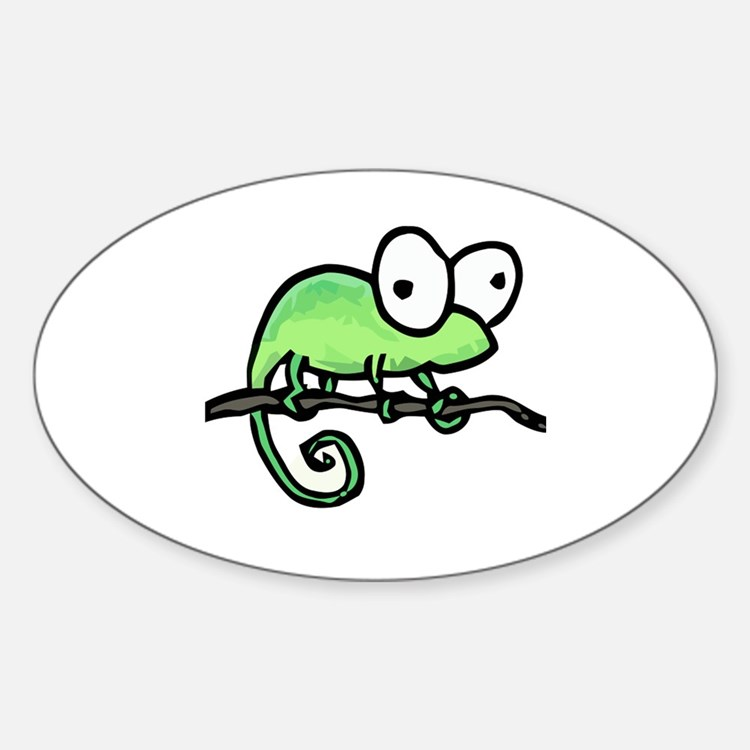 chameleon Oval Decal