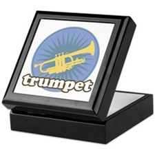 Retro Trumpet Burst Keepsake Box