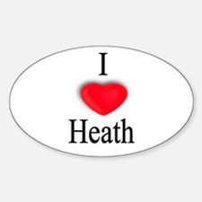 Heath Oval Decal