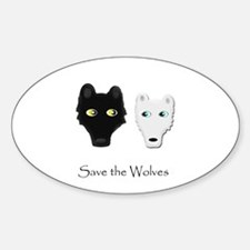 Save the Wolves Oval Decal