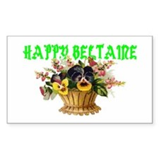 HAPPY Beltaine Rectangle Decal