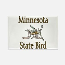 Minnesota State Bird Rectangle Magnet