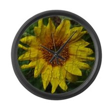 Sunshine Time Large Wall Clock