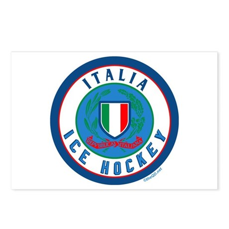 IT Italia Italy Ice Hockey Postcards (Package of 8