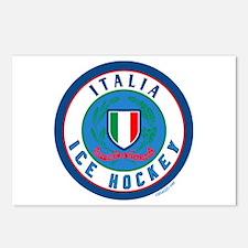 IT Italia Italy Ice Hockey Postcards (Package of 8