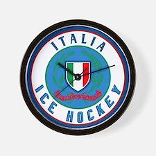 IT Italia Italy Ice Hockey Wall Clock