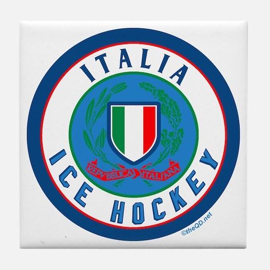 IT Italia Italy Ice Hockey Tile Coaster