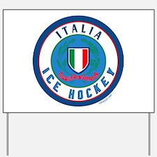 IT Italia Italy Ice Hockey Yard Sign