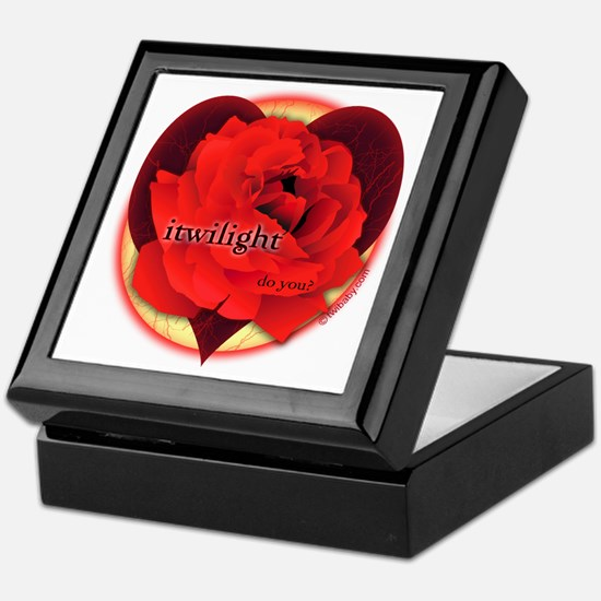 itwilight Do You? Red Rose of Love Keepsake Box