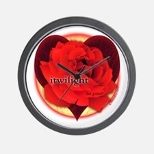 itwilight Do You? Red Rose of Love Wall Clock