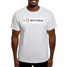 I Love Matthew Ash Grey T-Shirt