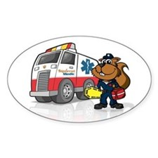 Squirrel Medic Bumper Sticker (in oval)