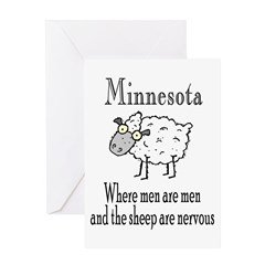 Minnesota Sheep Greeting Card