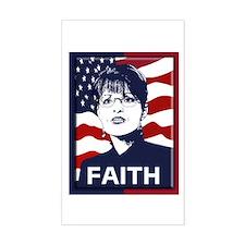 Sarah Palin Faith Rectangle Decal