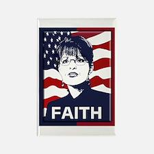 Sarah Palin Faith Rectangle Magnet