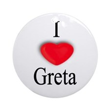 Greta Ornament (Round)