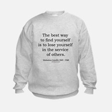 Mahatma Gandhi 24 Sweatshirt