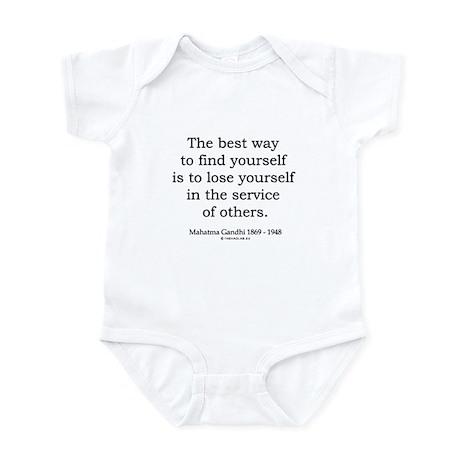 Mahatma Gandhi 24 Infant Bodysuit