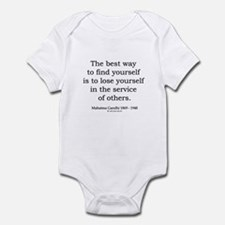 Mahatma Gandhi 24 Infant Bodysuit
