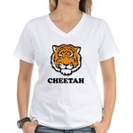 Cheetah Women's V-Neck T-Shirt