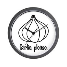 Garlic, please. Wall Clock