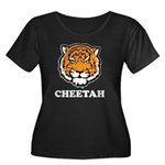 Cheetah Women's Plus Size Scoop Neck Dark T-Shirt