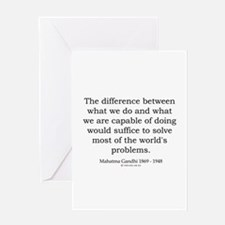 Mahatma Gandhi 25 Greeting Card
