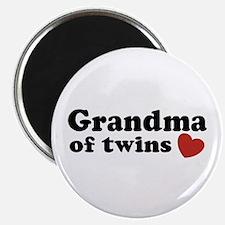 Grandma of Twins Magnet