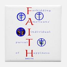 Forbiddin' Faith Tile Coaster