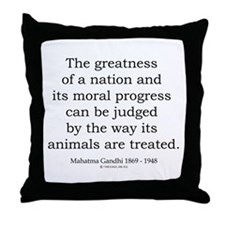 Mahatma Gandhi 26 Throw Pillow