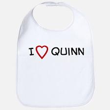 I Love quinn Bib