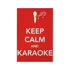 Keep Calm & Karaoke Rectangle Magnet