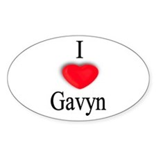Gavyn Oval Decal
